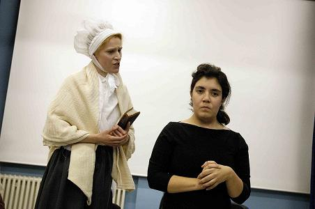 A Fiver's Worth of Courage HMP Brixton performance. Elizabeth Fry with Hannah Skelton.