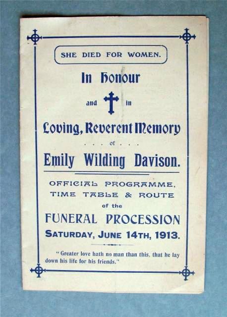 EWD Funeral Procession Programme_Elizabeth Crawford
