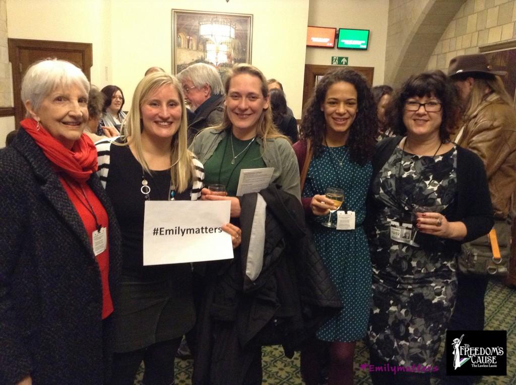 Post event drinks_Kay Renner, Katie Russell_Louise Gregory_Sabina Arthur_Karen Ingala Smith